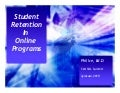 Phil Ice's: Student Retention in Online Programs