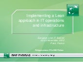 """Implementing a lean approach in IT..."