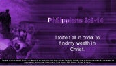 5th Sunday of Lent - Second Reading - Philippians 3:8–14