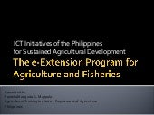 ICT Initiatives of the Philippines ...