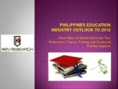 Philippines K-12 to Higher Education Industry Analysis Report: Ken Research