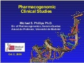 Pharmacogenomic Clinical Studies