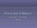Philosophy of religion1