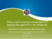 Policy and Financing on Seweraga an...