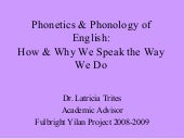 Phonetics  Phonology