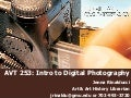 Library Research for Introduction to Digital Photography
