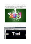 Photoshop and aurora 3d text & logo maker create amazing 2011 text effect