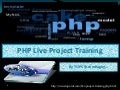 Php live project training