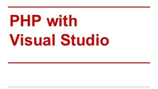 PHP with Visual Studio