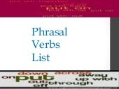 Phrasal verbs list -200 most common