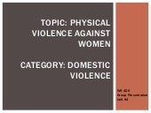 Physical violence against women gro...