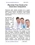 Physician peer review_for_insurance_companies