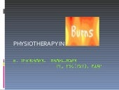 Physiotherapy in burns
