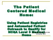 Using Patient Registries and Automa...