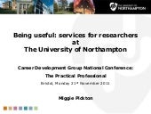 Being useful: services for research...
