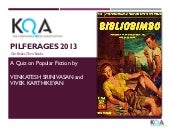KQA Pilferages 2013 Popular Fiction...