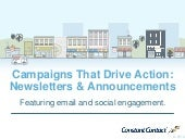 Email marketing for success - newsletters & announcements