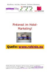 Pinterest im Hotel-Marketing