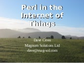 Perl in the Internet of Things