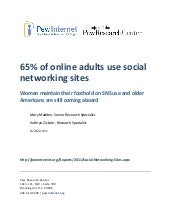 """65% of online adults use social ne..."