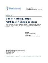E-book Reading Jumps; Print Book Re...