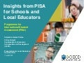 Insights from PISA for Schools and Local Educators