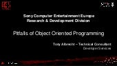 Pitfalls of Object Oriented Programming by SONY