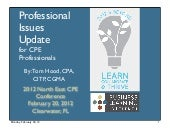 Professional Issues Update for Lear...