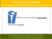 Internal Quality Audit Training 26 ...