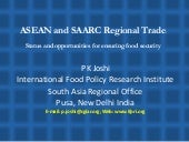 ASEAN and SAARC Regional Trade- PK ...