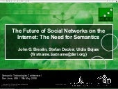 The Future of Social Networks on th...