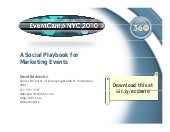 A Social Playbook for Marketing Eve...