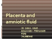 Placenta and amniotic fluid