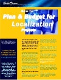 Plan & Budget for Localization Projects