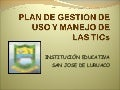 Plan De Gestion De Uso Y Manejo De Ti Cs