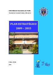 Plan Estratégico FCCSSED-2009-2015