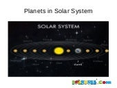 Solar System and Planets for Kindergarten Childrens