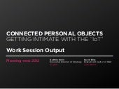 Connected Personal Objects — Planni...