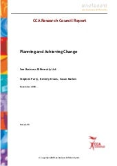 Planning and Achieving Change (CCA ...