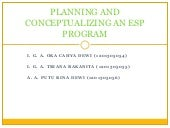 Planning and conceptualizing an esp...