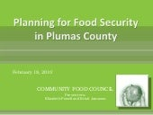 Planning For Food Security In Pluma...