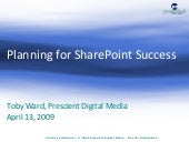 Planning For Sharepoint Success