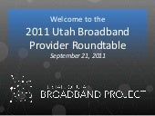 Utah Broadband Planning Project Upd...
