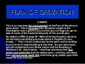 Plan of salvation english mission