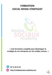 Programme de Social Media Strategis...
