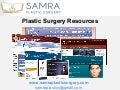 Plastic surgery resources
