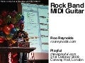 Rock Band MIDI guitar demo at Playful