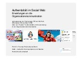 Authentizitaet im Social Web: Anfor...