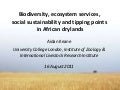 Biodiversity, ecosystem services, social sustainability and tipping points in African drylands