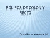 Pólipos de colon y recto
